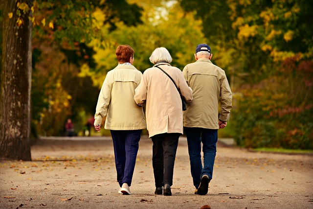 people, elderly walking together, end-of-life care conversations